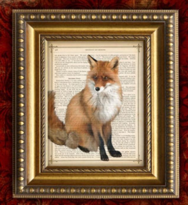 Antique Fox Print Artwork