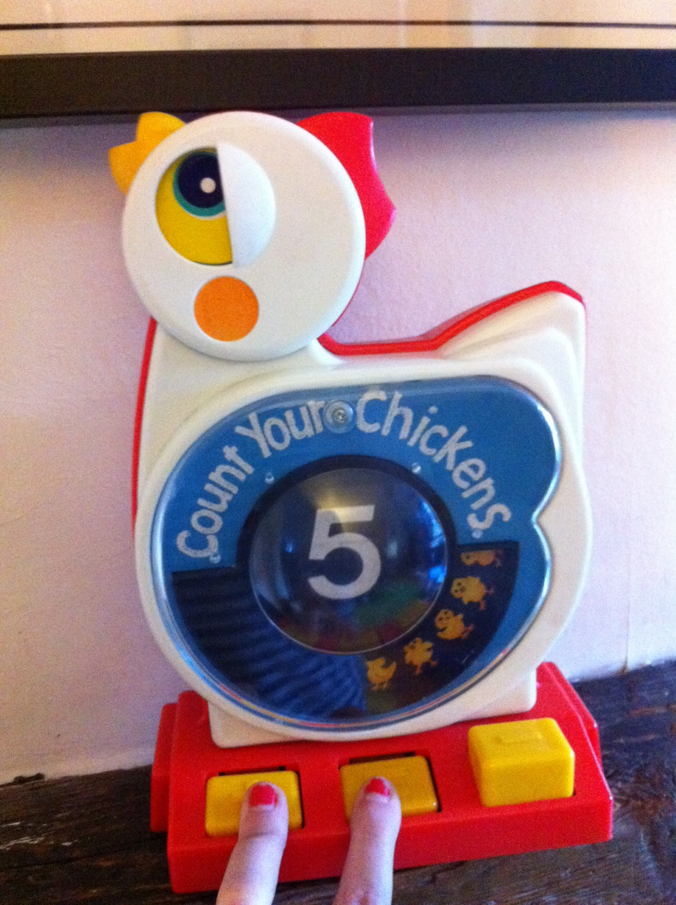 1970's Count Your Chickens Toy