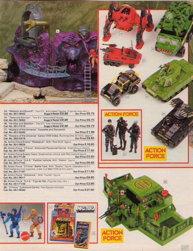 1985 Argos Catalogue Toy Pages
