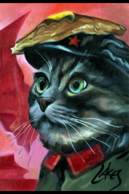 Chairman Meow by Dan Lacey, The Painter of Pancakes
