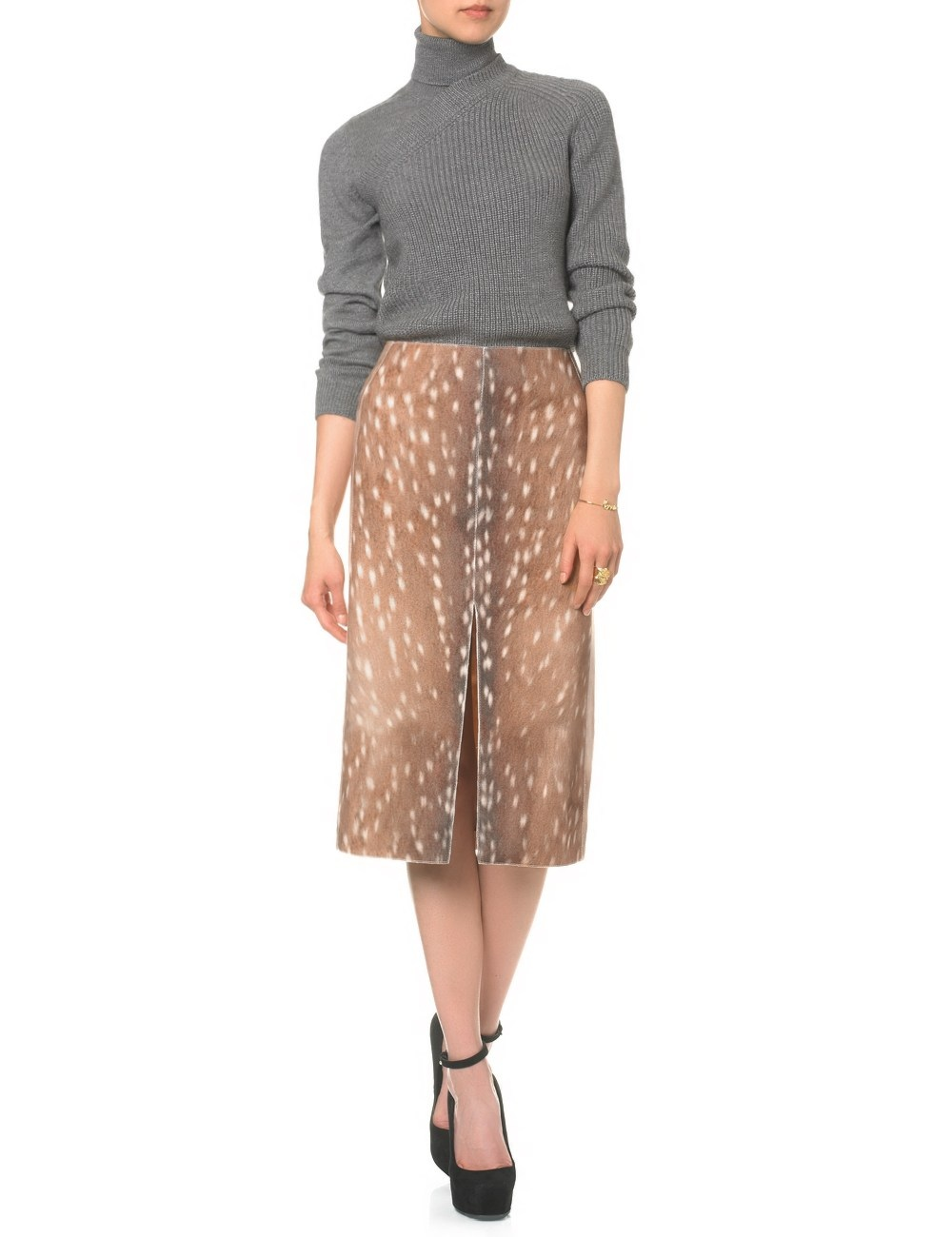 Fawn print skirt, my favourite piece. Carven £310
