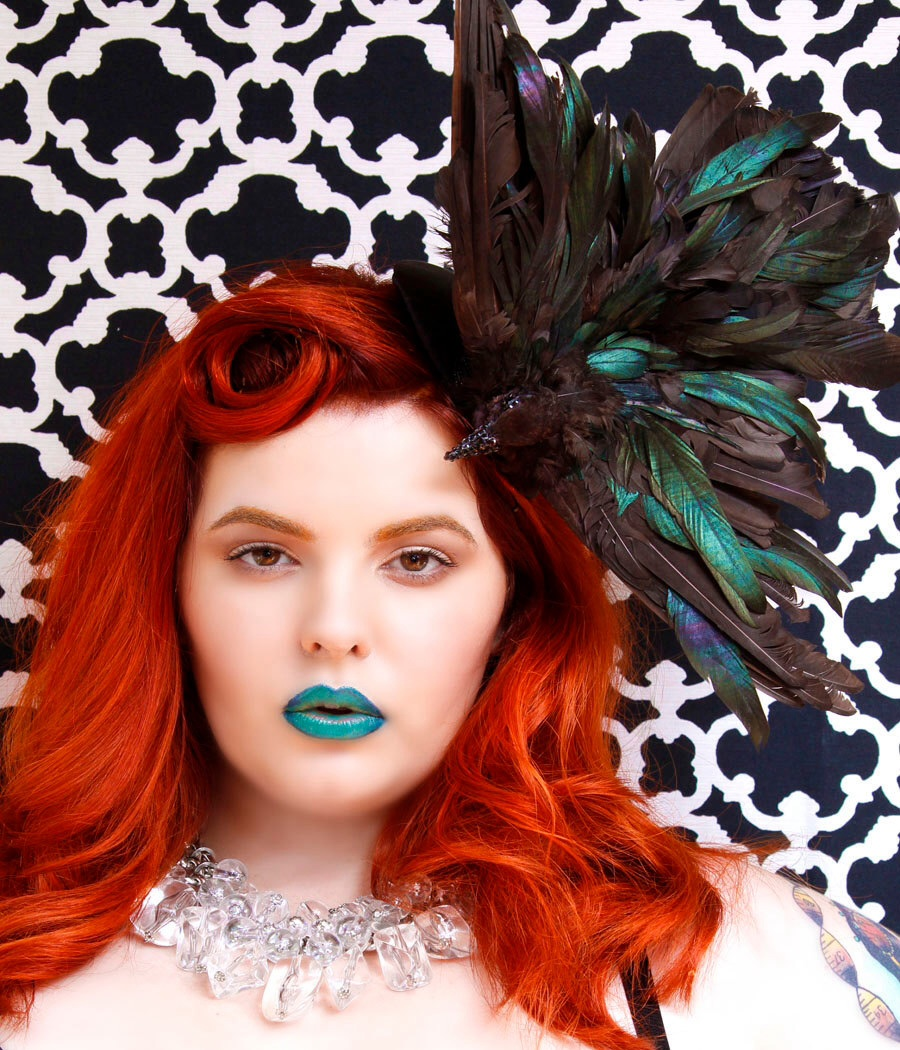 Stunning headwear from Batcakes Couture (search on etsy)