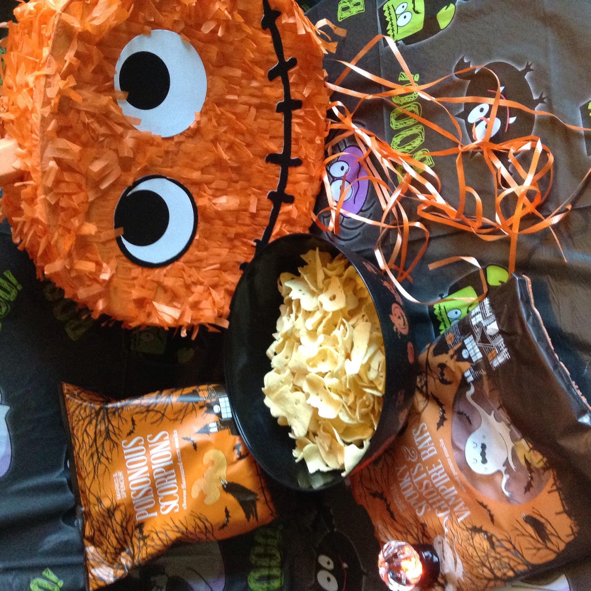 Pumpkin piñata £10 - Scorpion snacks or Spooky Ghosts & Vampire Bats 2 for £2 - Pumpkin Tealight £3.50