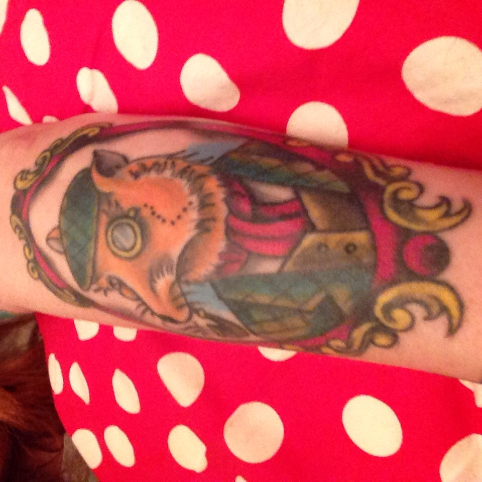 My fox tattoo by Chris Crooks, White Dragon Tattoo Studio, Belfast