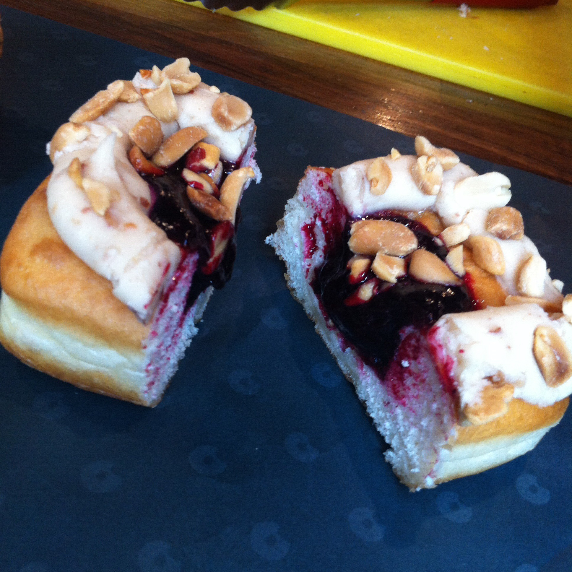 Peanut butter and jelly doughnut