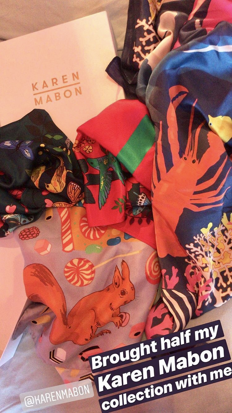 Part of my own collection of Karen Mabon Scarves