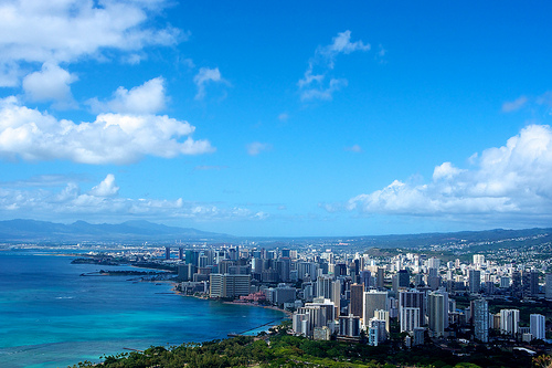 Honolulu from Diamond Head - Click to view more photos