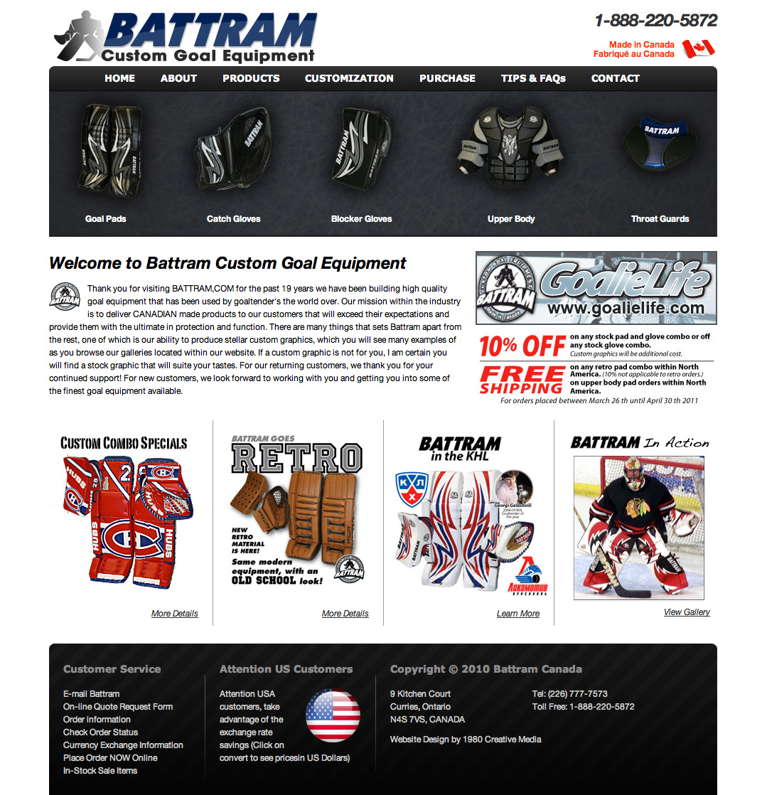 Battram Custom Goal Equipment