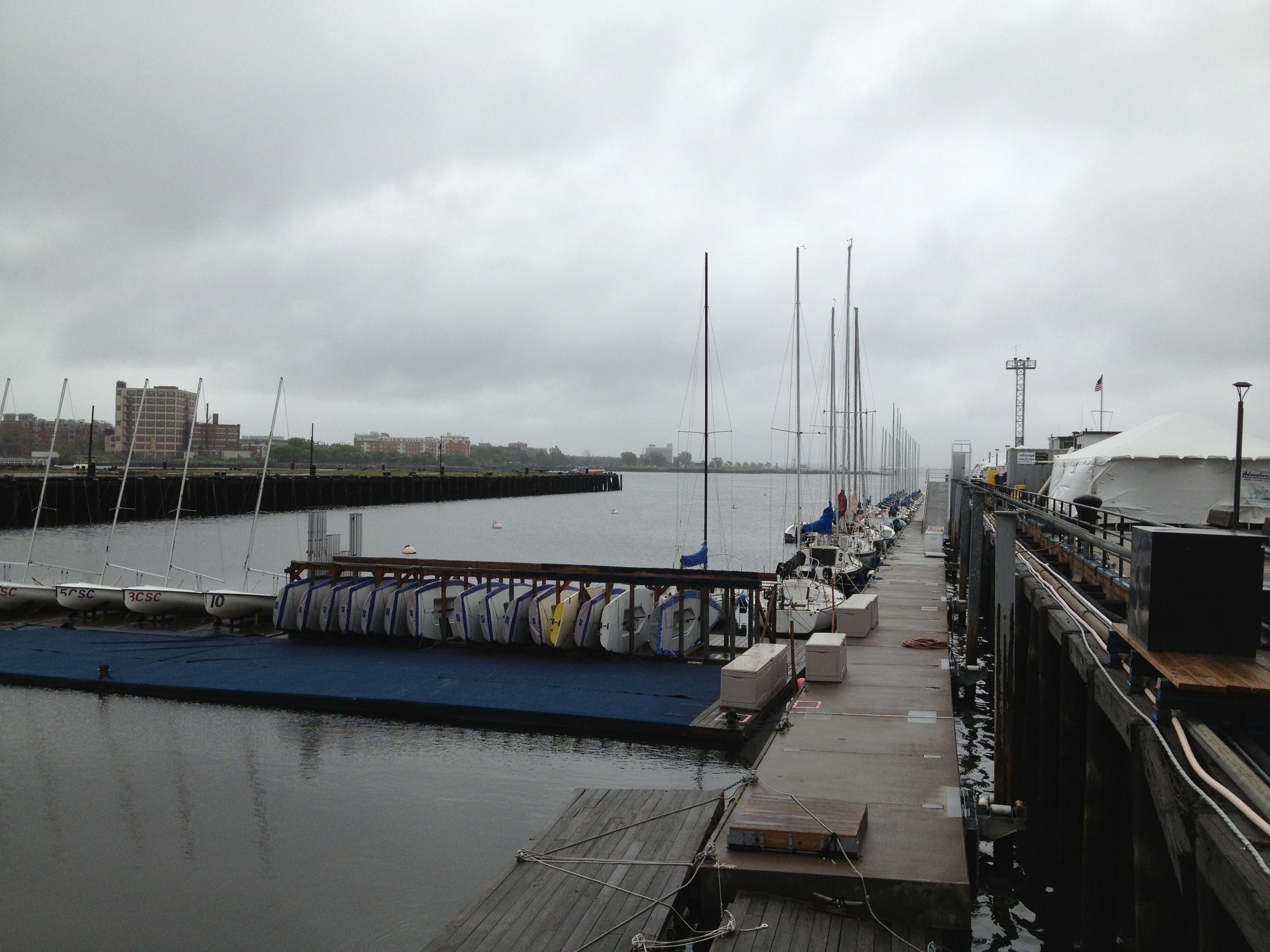 The courageous sailing dock and fleet.