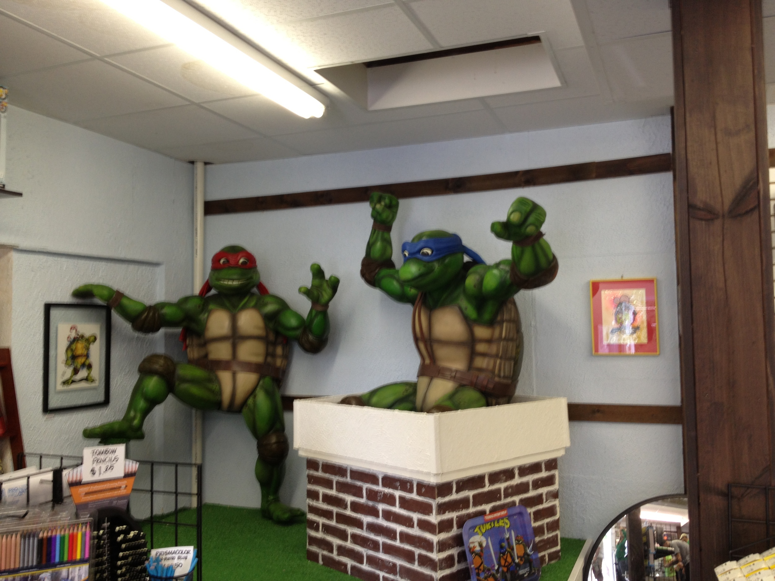 Raphael and Leonardo greet you!