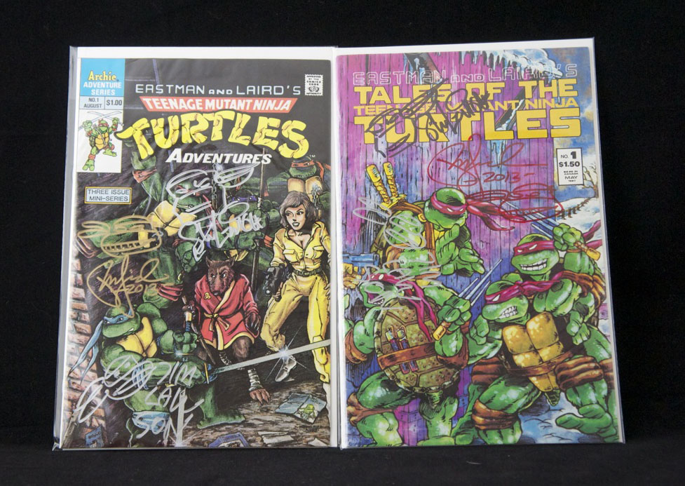 Archie TMNT #1 and Tales of the TMNT #1 signed by all three.