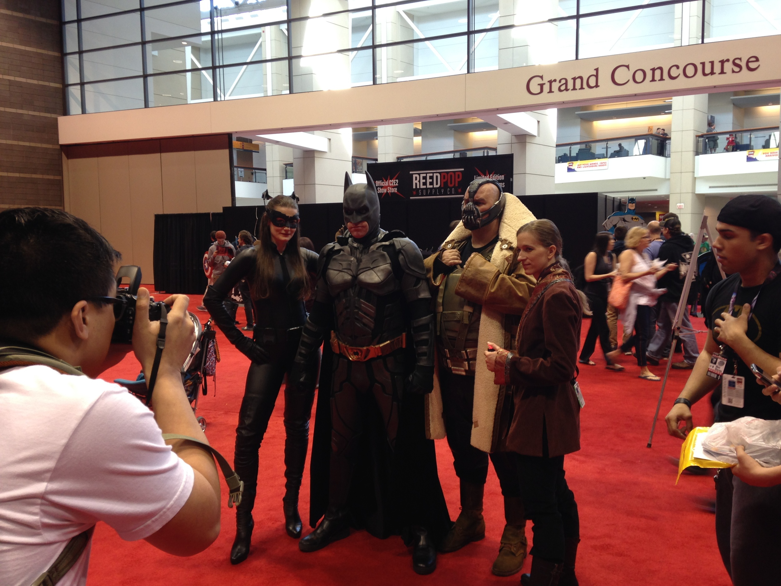 C2E2 Cosplayer - Catwoman, Batman, and Bane
