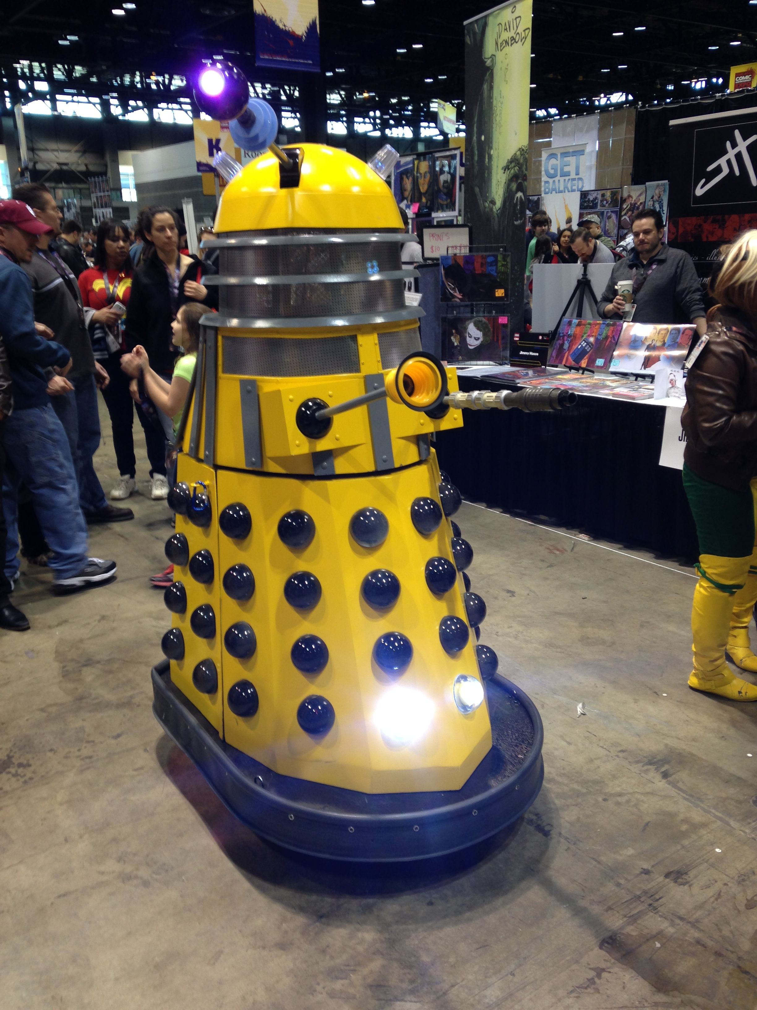 Robotic Dalek running around the show floor.