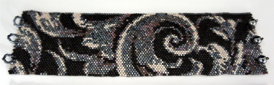 Black & White Tapestry Cuff  done up by  Tina Wilson