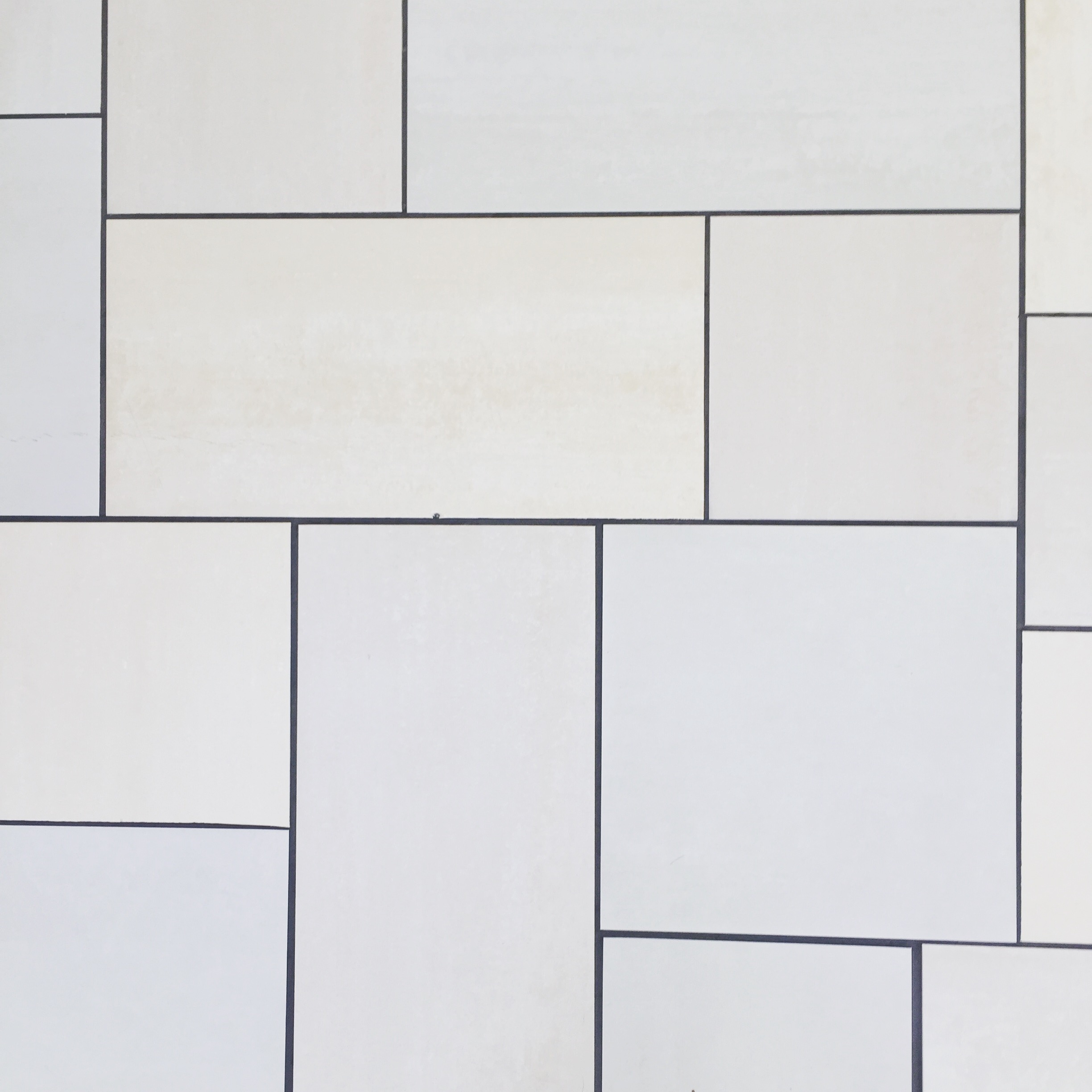 The tiles of Crossroads Mall after the stabbing.