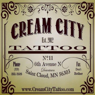 Cream City Tattoo offers a very unique layout to our clients. As soon as you walk down our stairs you'll realize that this is not an ordinary tattoo shop. Cream City Tattoo is a full on art studio with client comfort in mind. Each artist has their own room in which they personalize with much of their own visual art works.