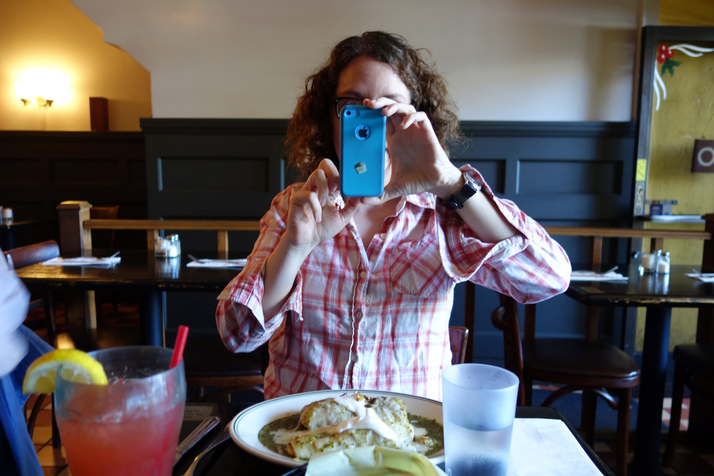 DSC00833 Erica Photographing Her Lunch.JPG