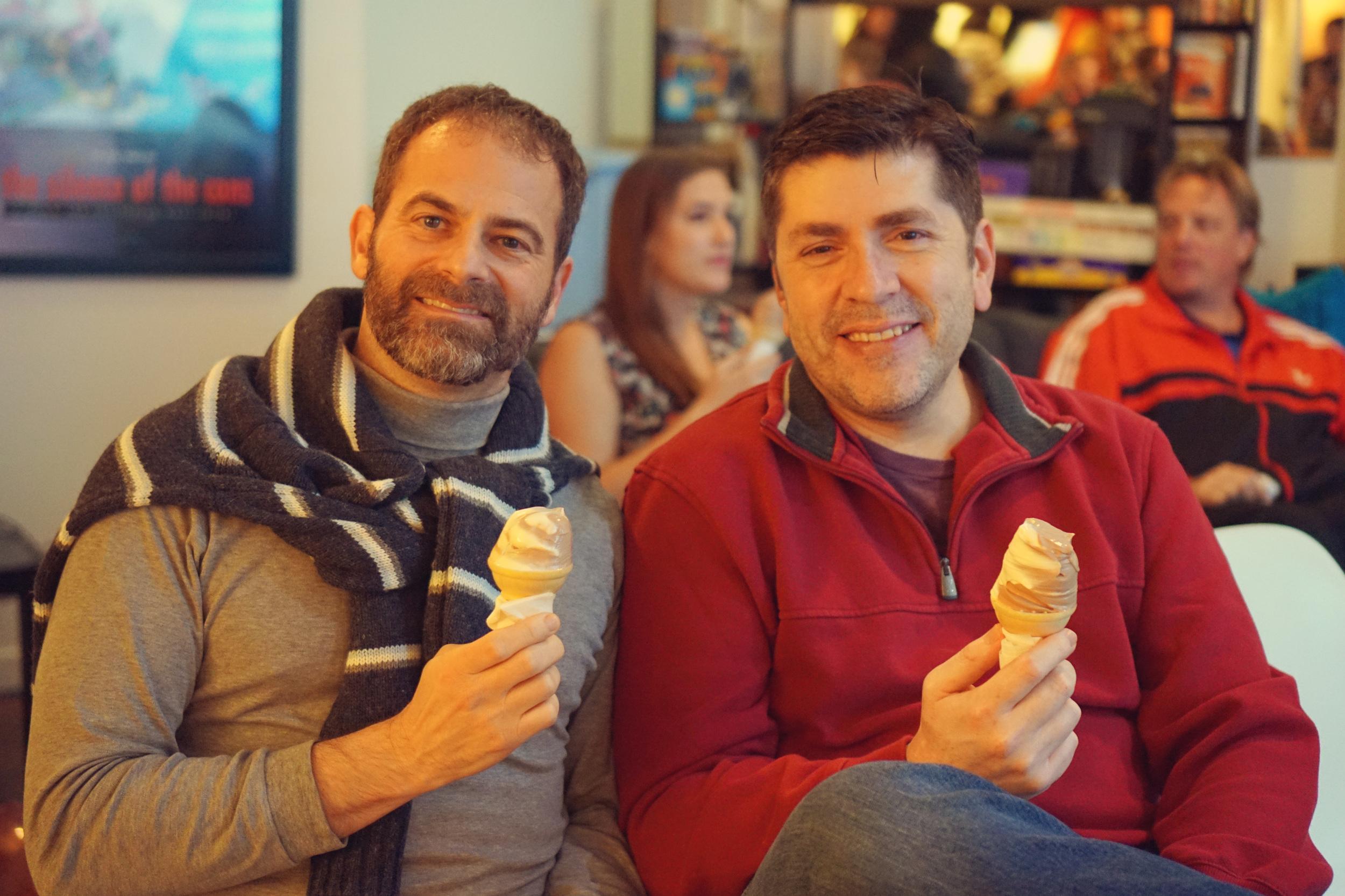 DSC02318 Stewart and Rubin and Their Ice Cream Cones.JPG