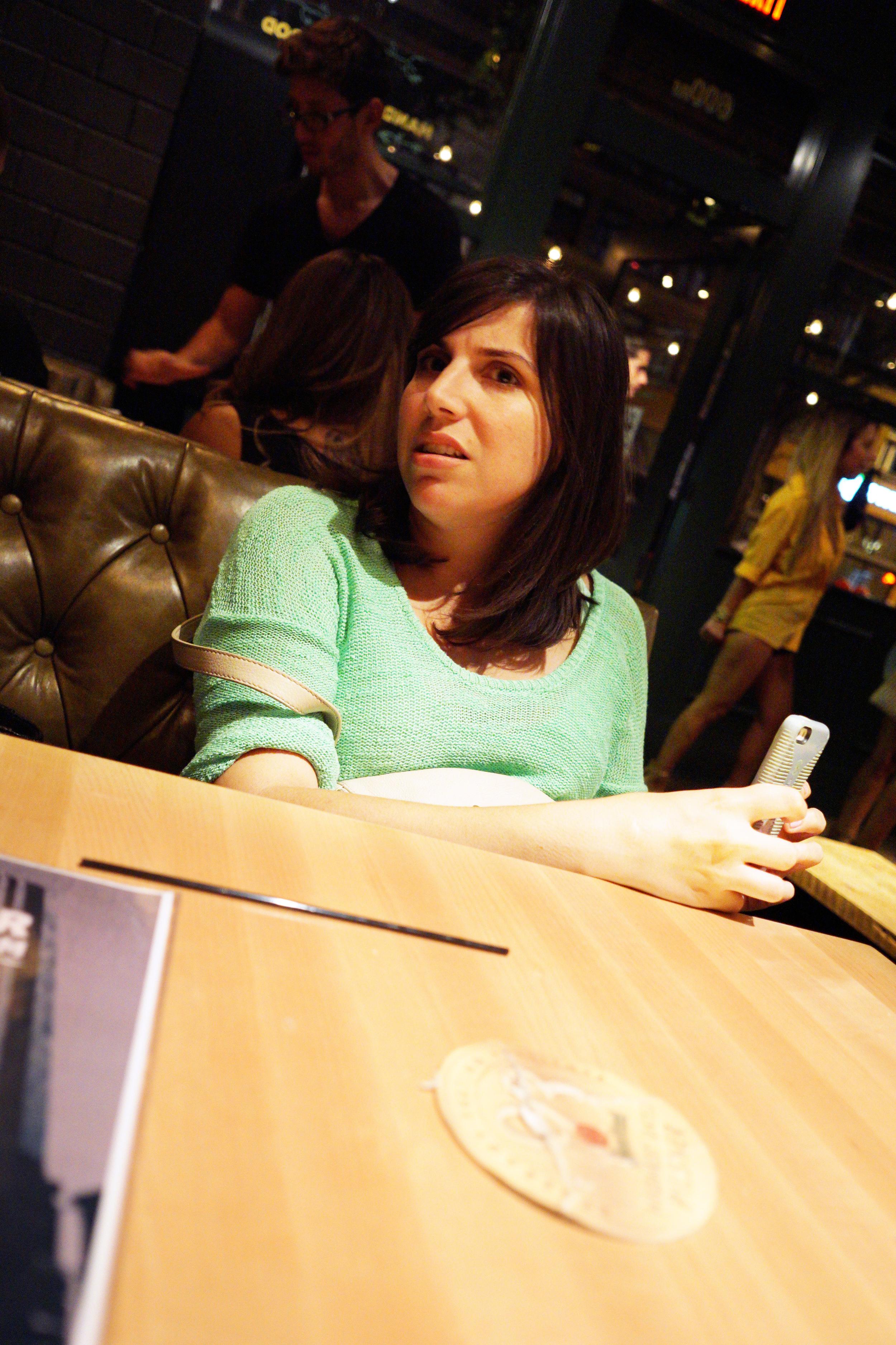 DSC00753 Rachel Weird Texting Face.JPG