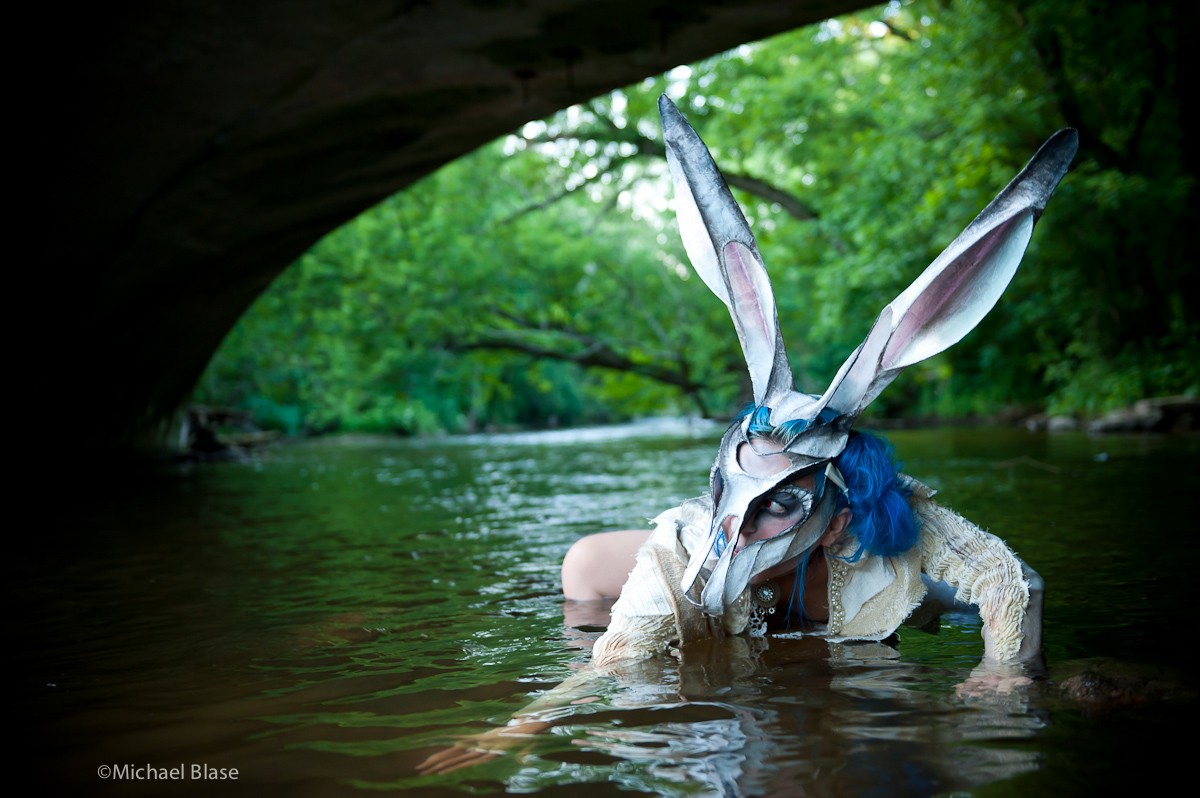"Michael Blase, Hunting Rabbit (collaboration with Kristin Costa), Ink Jet Print, 24 x 36"", 2011"