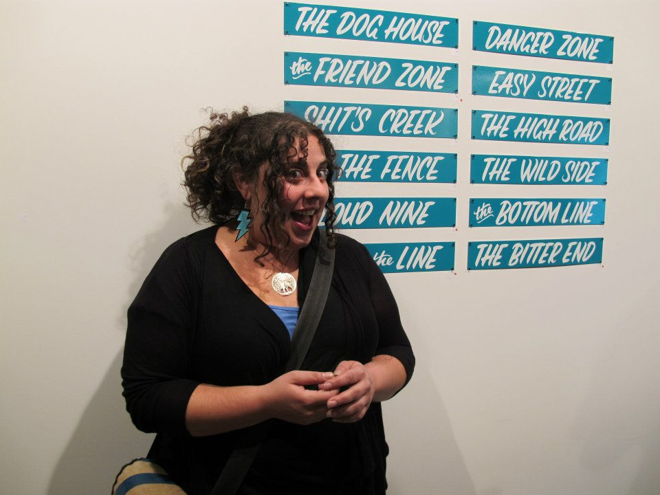 woman who donates her time to create Brooklyn spaces for all of us ... Oriana Leckert at low brow artique september 2012.