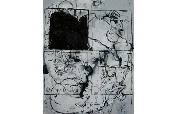 Nicholas Burgess, Charlie Moon, Acrylic on Canvas,8 x 6 inches, 2012