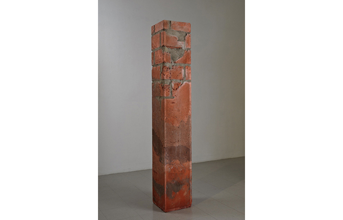 Reece Cox, Triumph of Logic, Concrete, Pigment, 79 x 12 1/2 x 12 1/2 inches, 2011