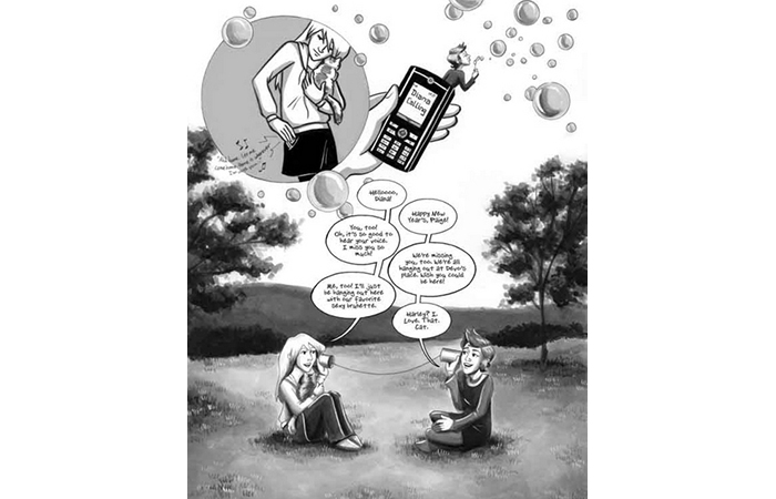 Laura Lee Gulledge, Excerpt from Graphic Novel Page by Paige, Ink on paper, 2011  ​