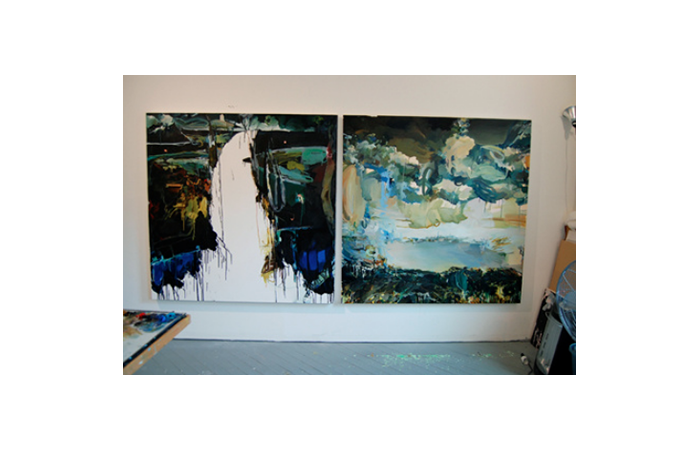 Elsie Kagan, Studio View with Current Works, Dimensions Variable, 2012