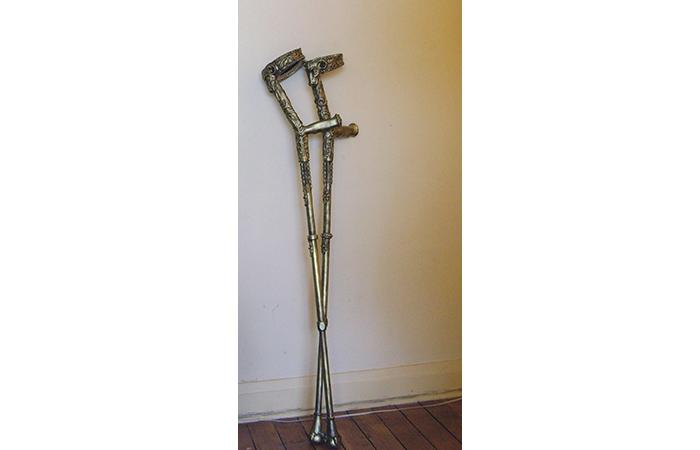 Araba Ocran, Pimpsticks, mixed materials, 63 x 59 x 16 inches, 2012