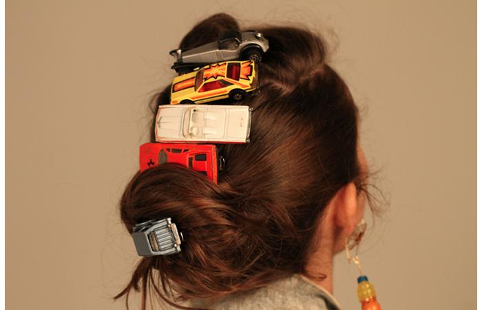 Ellen Robin Rosenberg, Car Barrette Series, Model Cars, Glue, Barrettes, Dimensions Varied, 2012