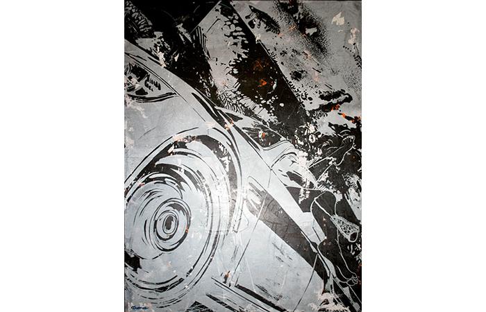 "Jacob Thomas, Fast Woman, Acrylic on Wood, 48 x 36"", 2012"