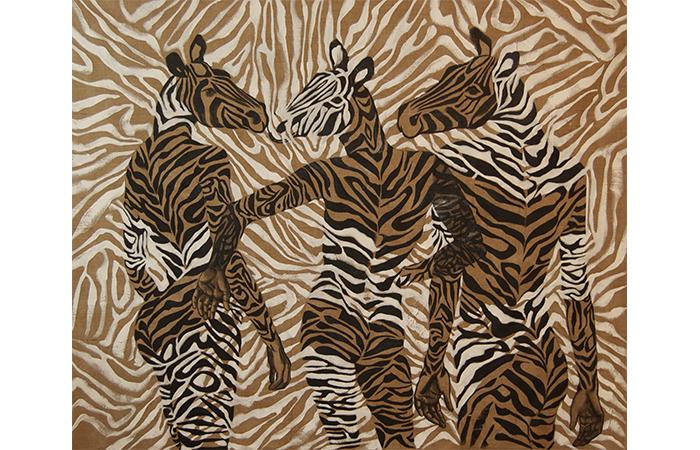 Constance Edwards Scopelitis, Animal Like Me, Oil on Linen, 40 x 48 inches, 2012