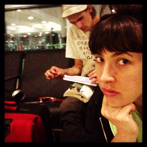 Ventiko and Reece waited 7+ hours for their delayed flight!
