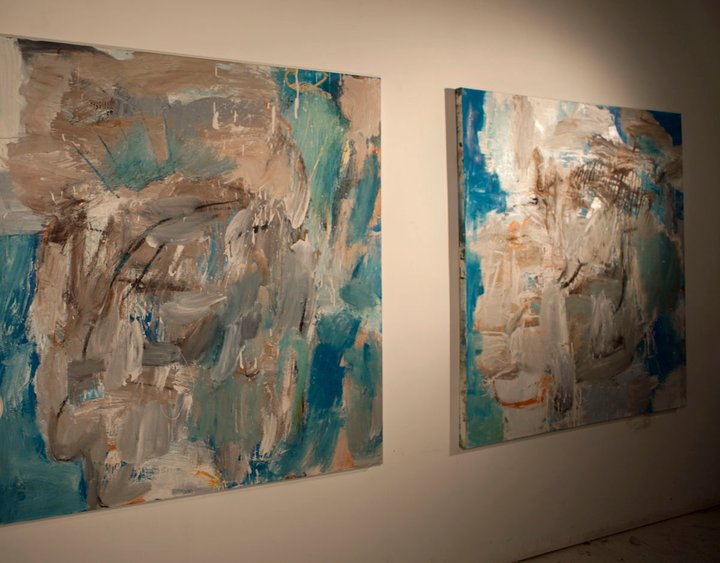 Paintings by Brenton Wolf at our first gathering february 2011.
