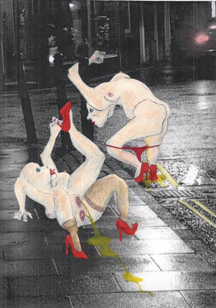 Sophie Crow, Binge 3, Backlight Billboard, 39.3 x 78.7 inches (100 x 200 cm), 2012