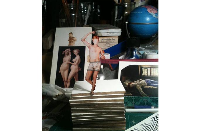 Kirsty Harris, Sebastian, Hand Cut Archivial Print, 6 x 4 inches, 2013