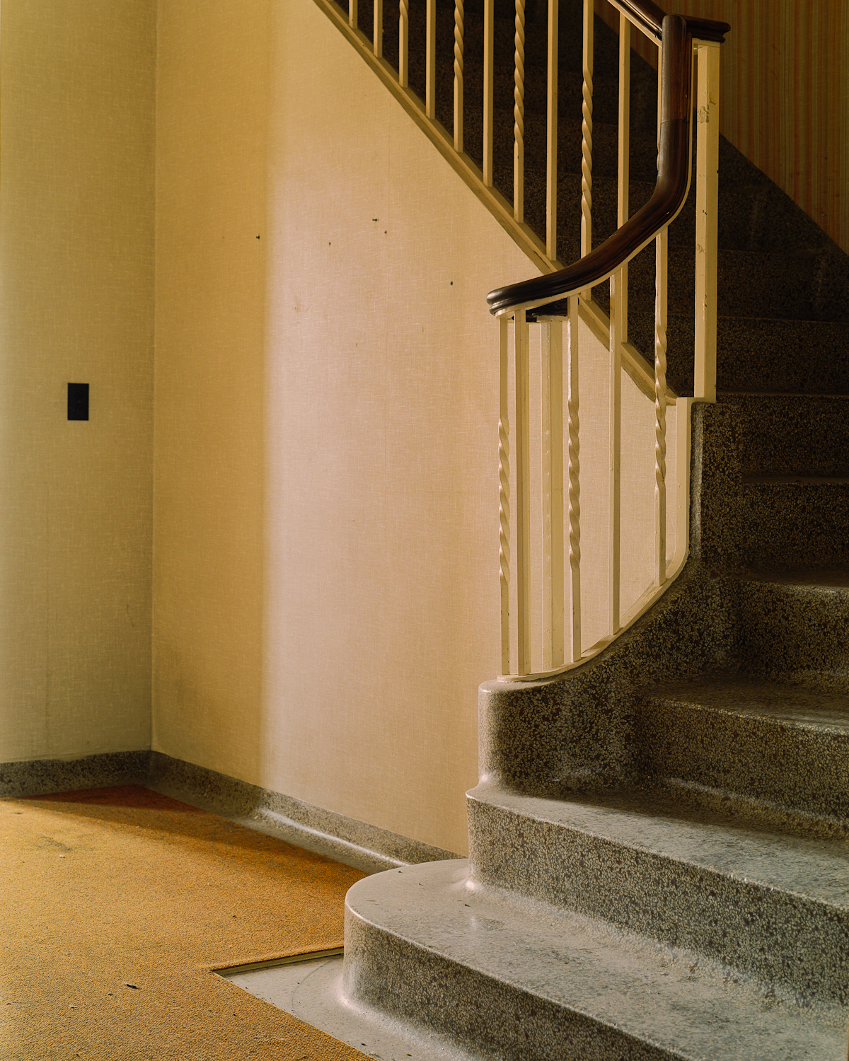 Stairs in front entryway, Cottage 4.
