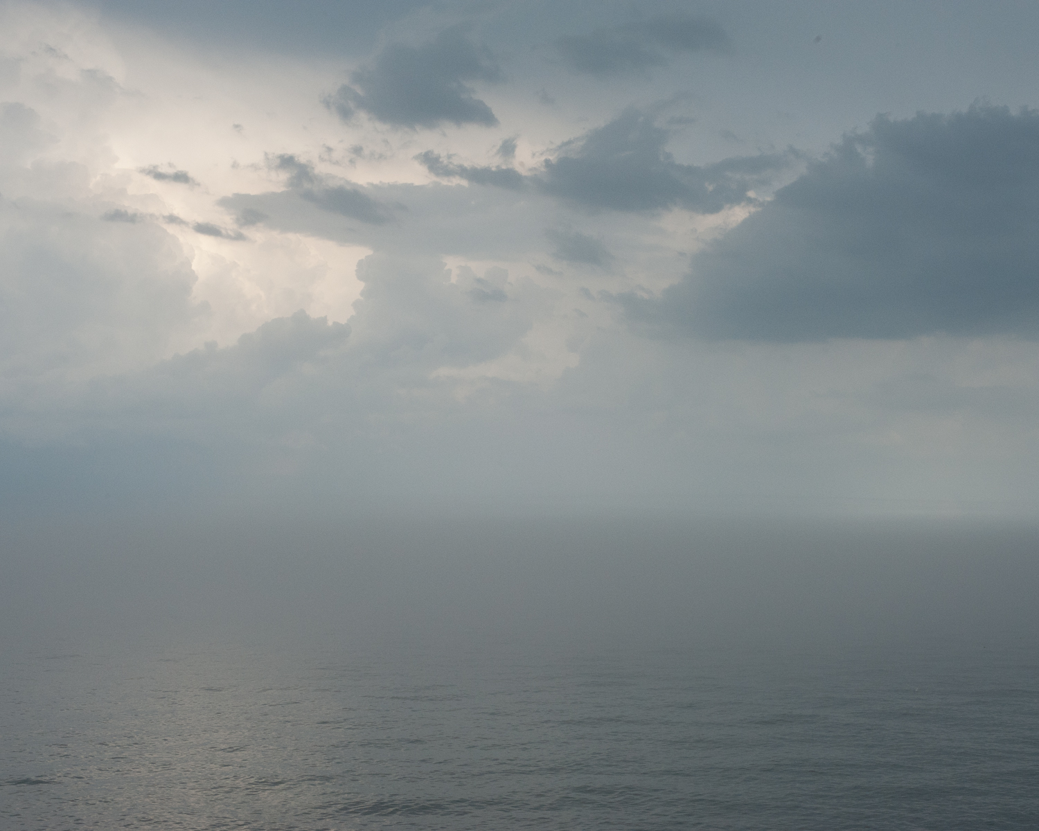 A thunderstorm moving out over Lake Superior near Grand Marais, Minnesota. July, 2013.