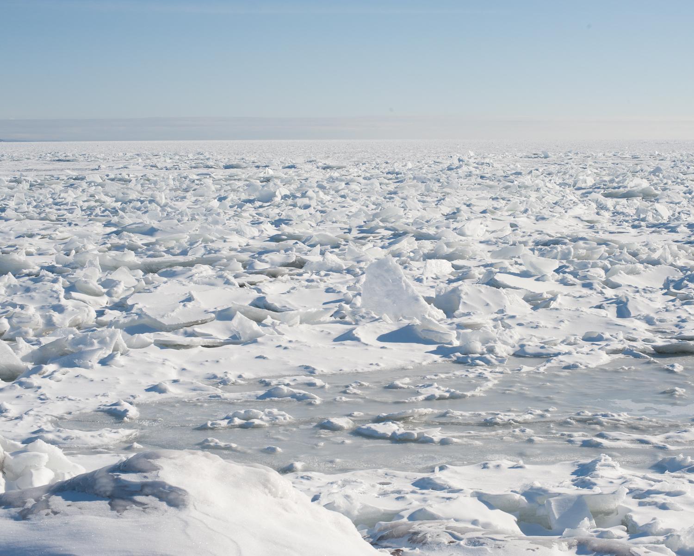 Ice on Lake Superior near Duluth, Minnesota. February, 2013.