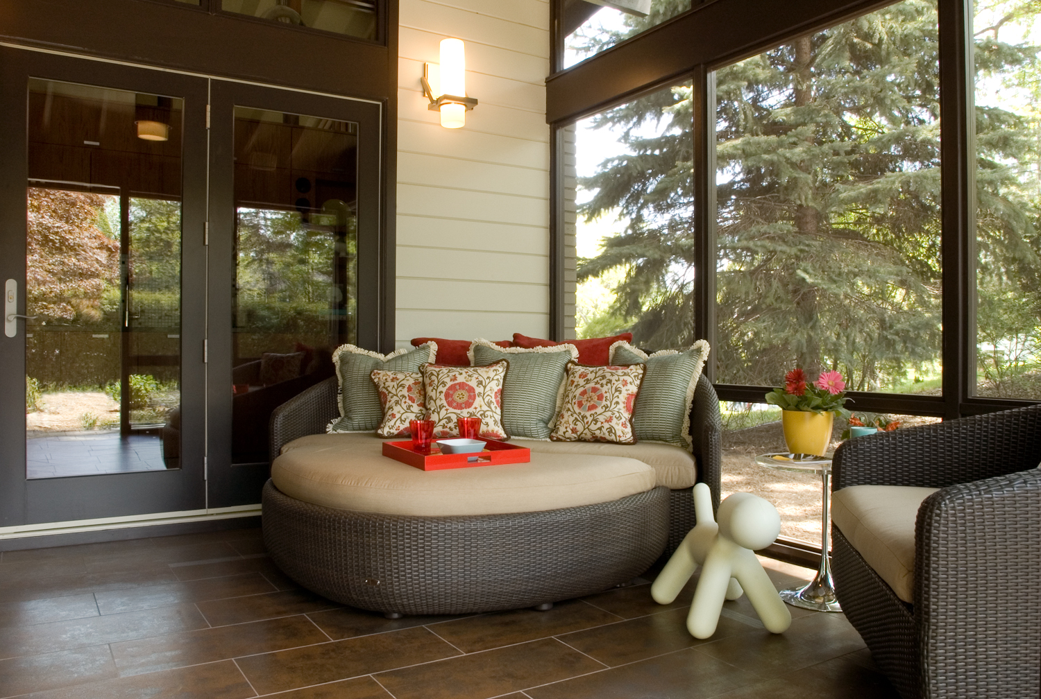 Screen porch, 2009 ASID Showcase Home