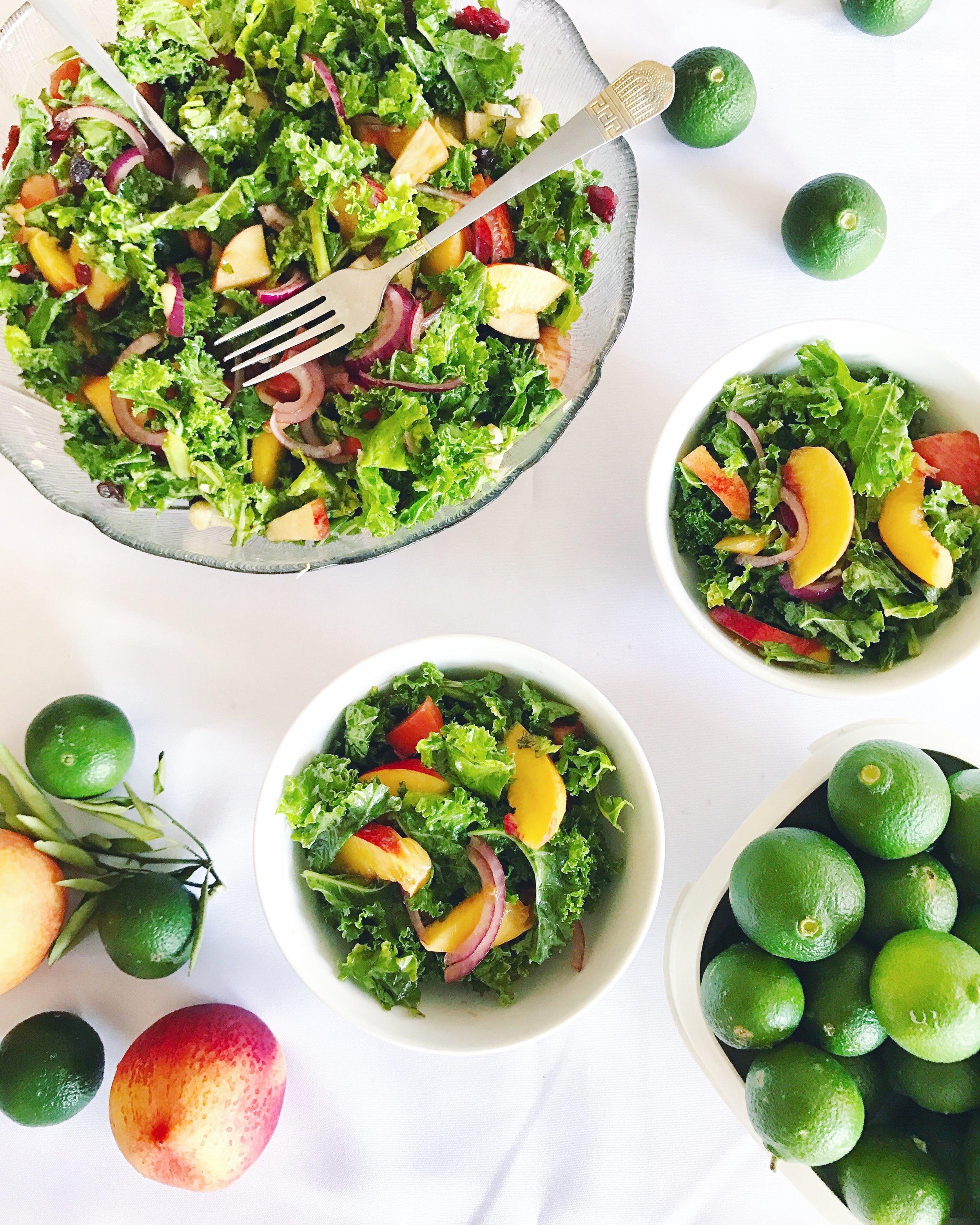 summer kale and peach salad.JPG