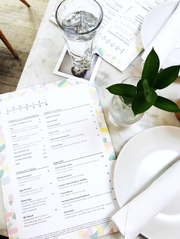 loosie's kitchen menu