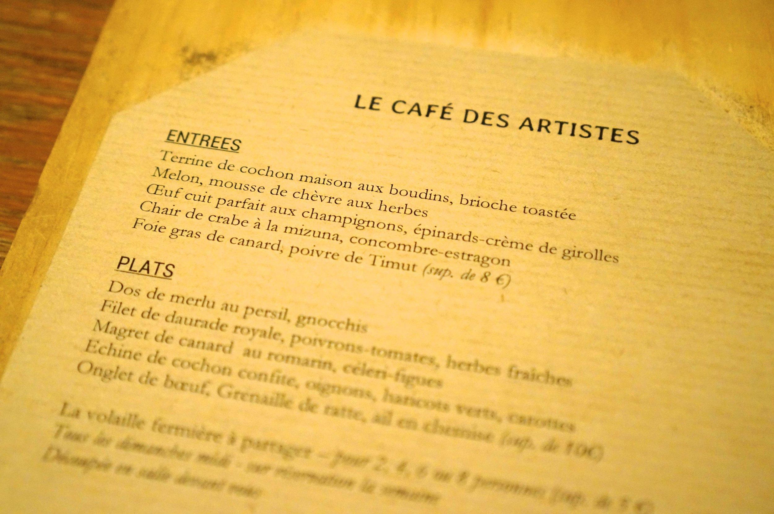BISTRO LE CAFÉ DES ARTISTES