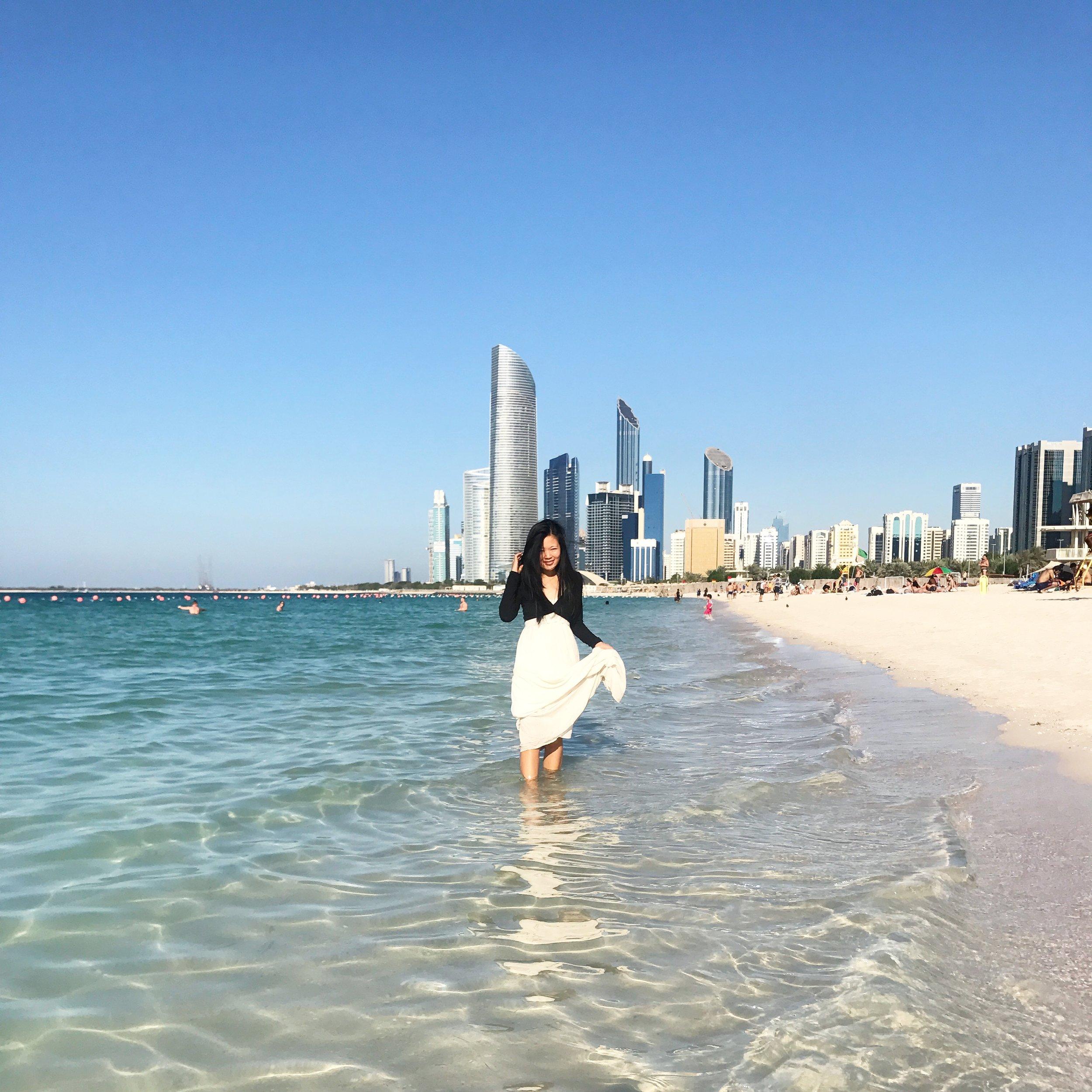 leanne wei honey & velvet corniche beach abu dhabi
