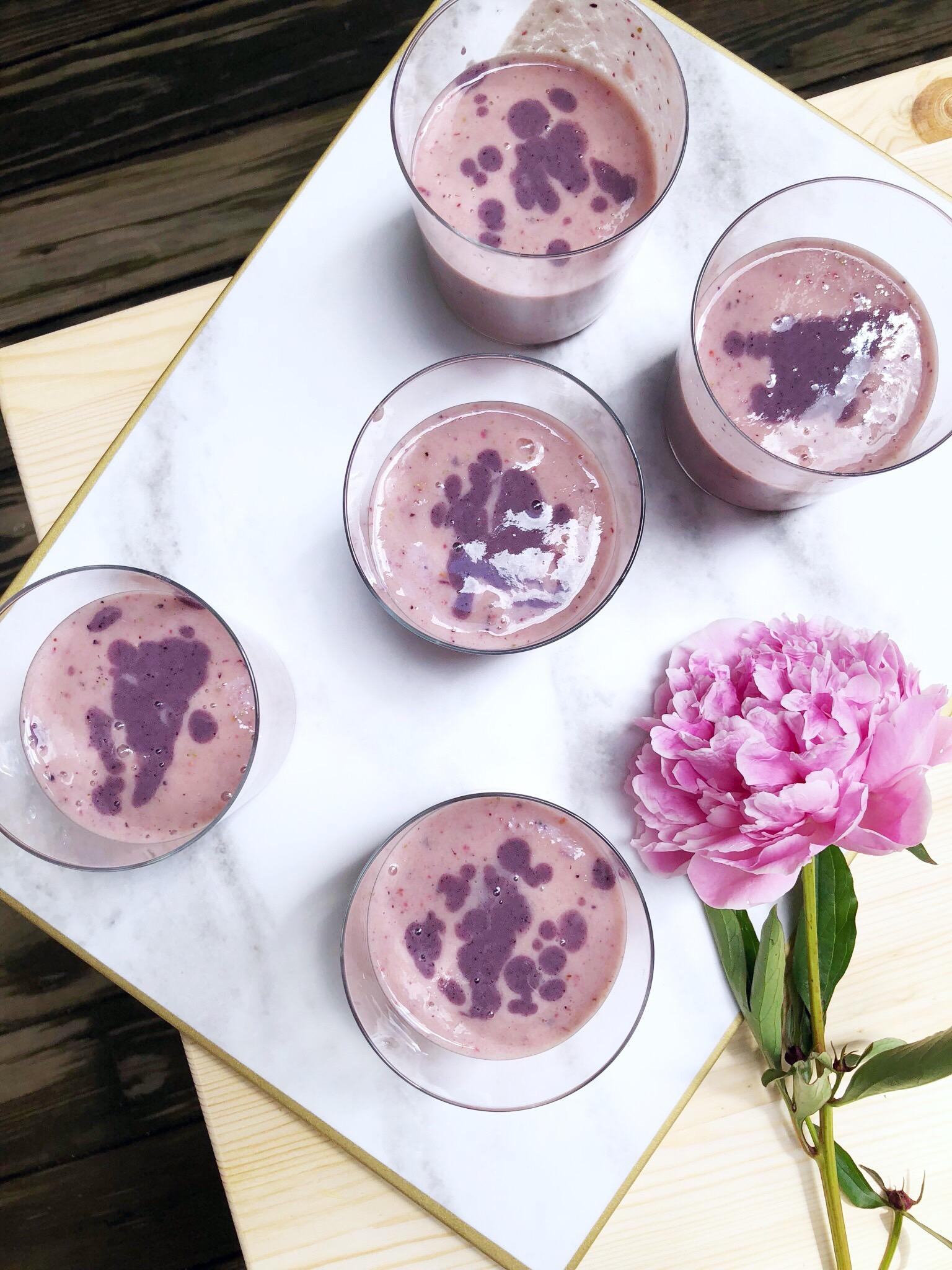 peony flower smoothies
