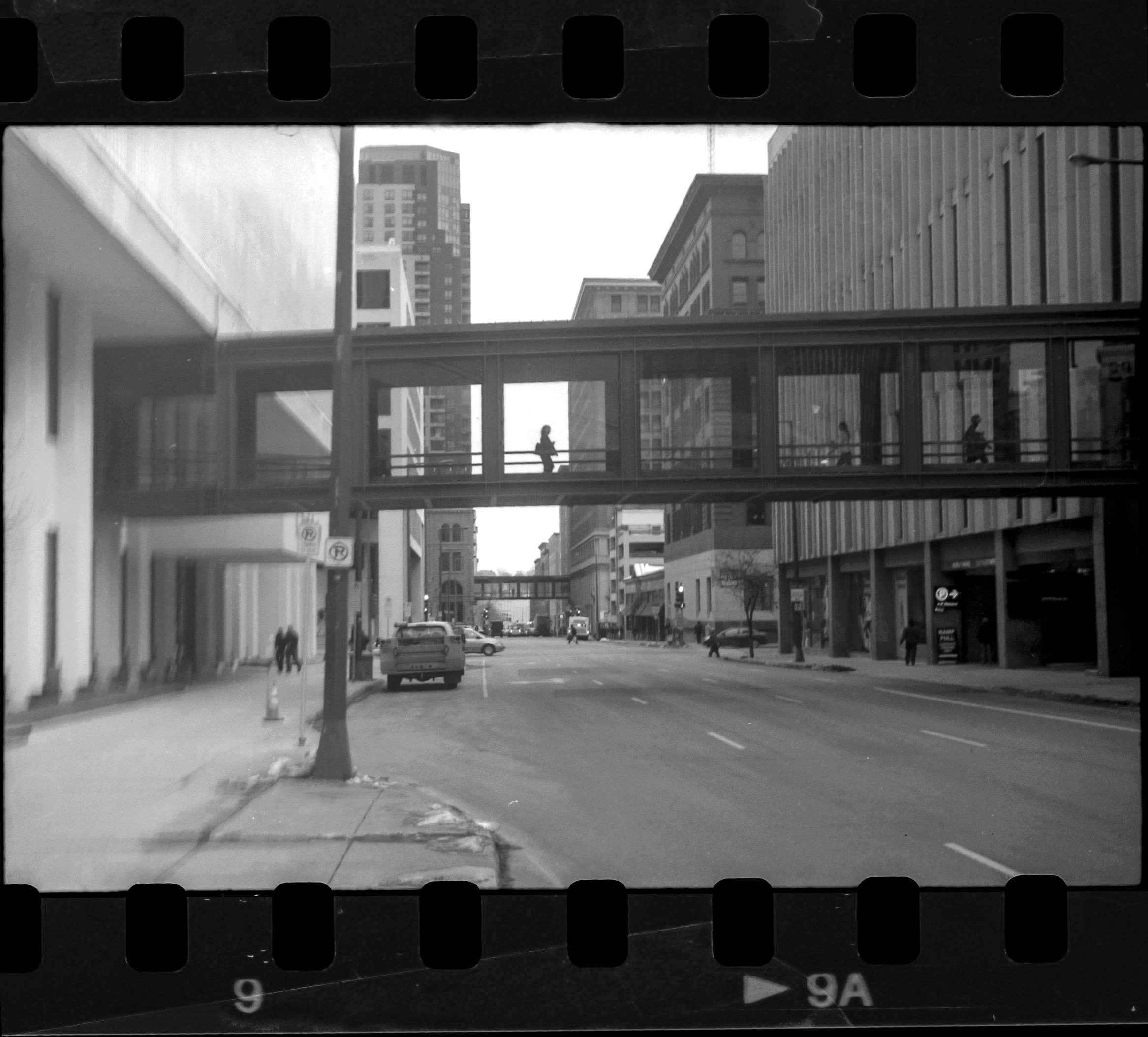Over the last few weeks I've aquired a few vintage cameras, not as bookshelf pieces, but as tools to challenge me and change the way I am seeing and photographing. Here is a quick snap from a partial roll of film I ran through one of the new cameras today. Its amazing that a camera from 1933 still works just fine. I look forward to using these cameras more and I sure have missed the smell of fixer on my hands from developing the film.