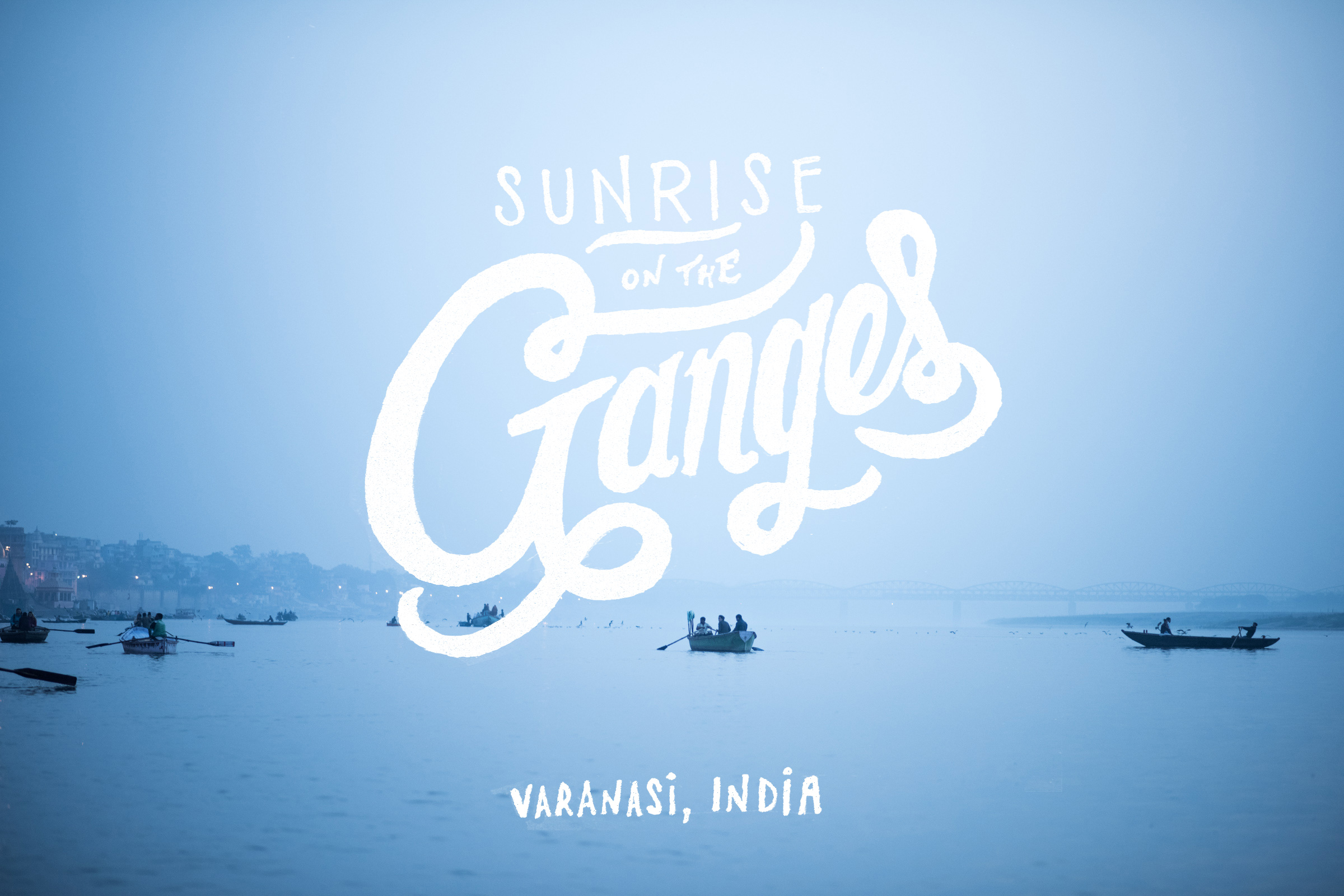 Sunrise on the Ganges - Varanasi, India