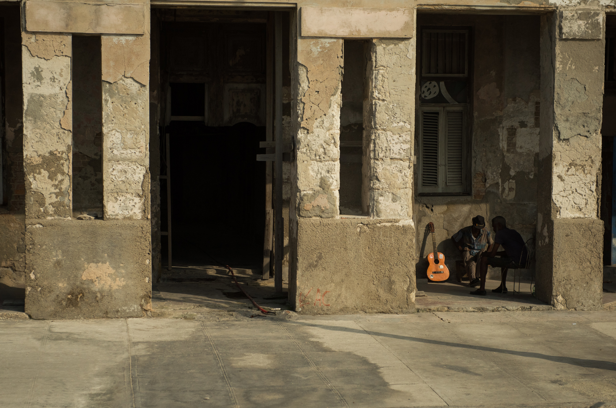 A street scene from the bus as the Minnesota Orchestra's tour bus headed to the hotel in Havana.
