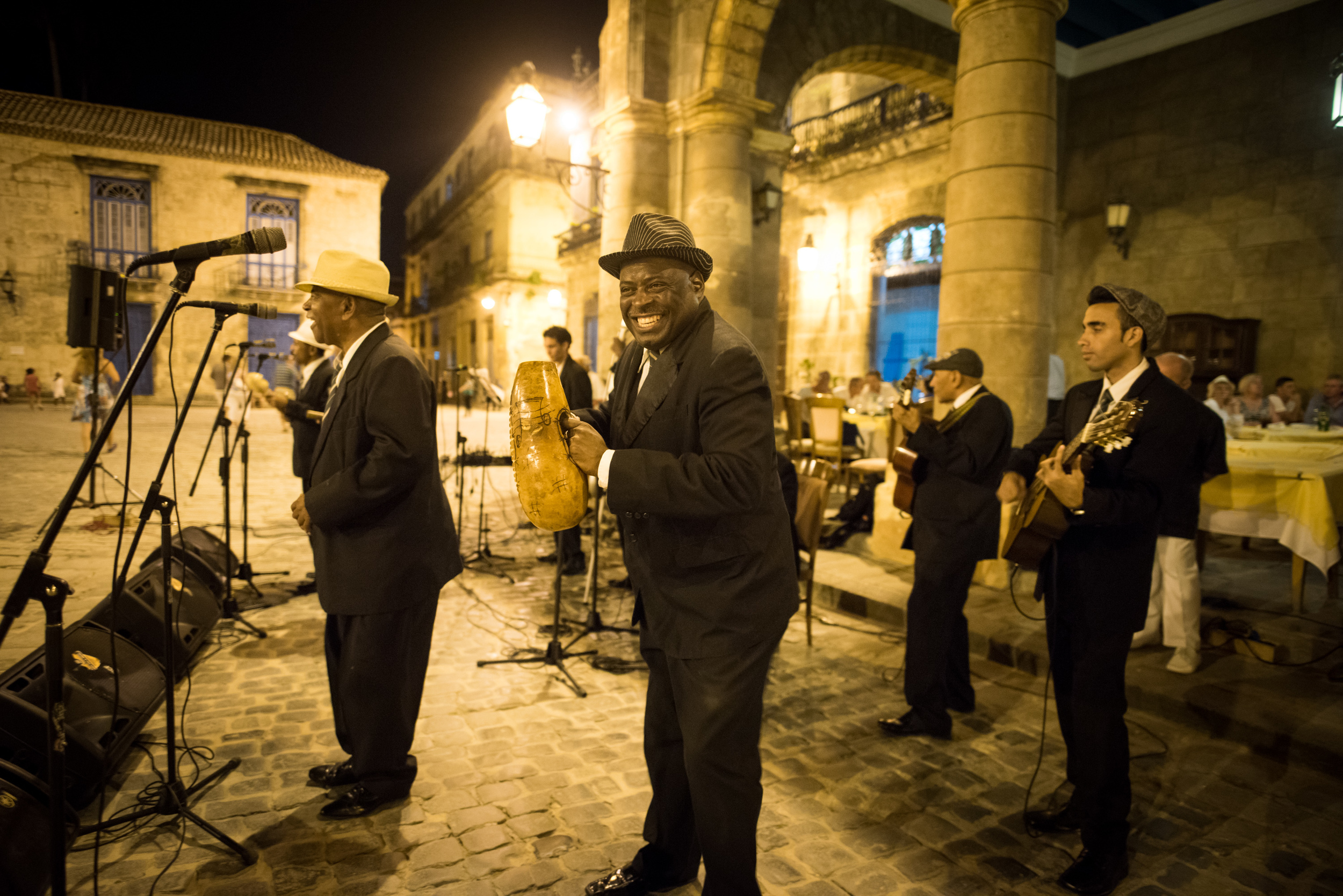 Local Cuban band Septeto Habanero performed while the Minnesota Orchestra had dinner. Live music accompanied every meal during the trip.